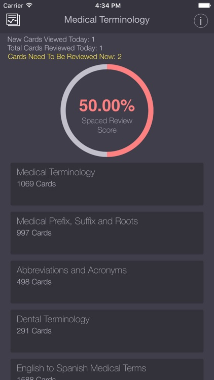 Medical & Dental Terminology/Abbreviations PRO Flashcards App screenshot-0