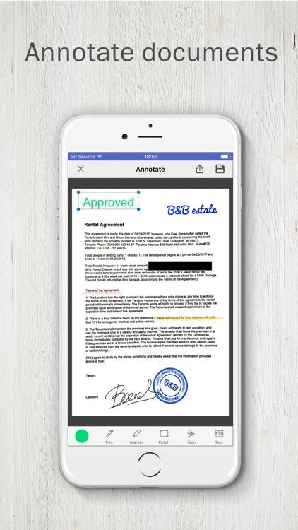 PDF Scanner app by FineScanner screenshot-0