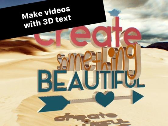 Typotastic - 3D text on photos Screenshots