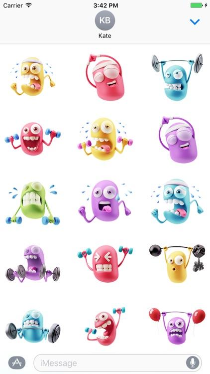 3D Smileys Stickers