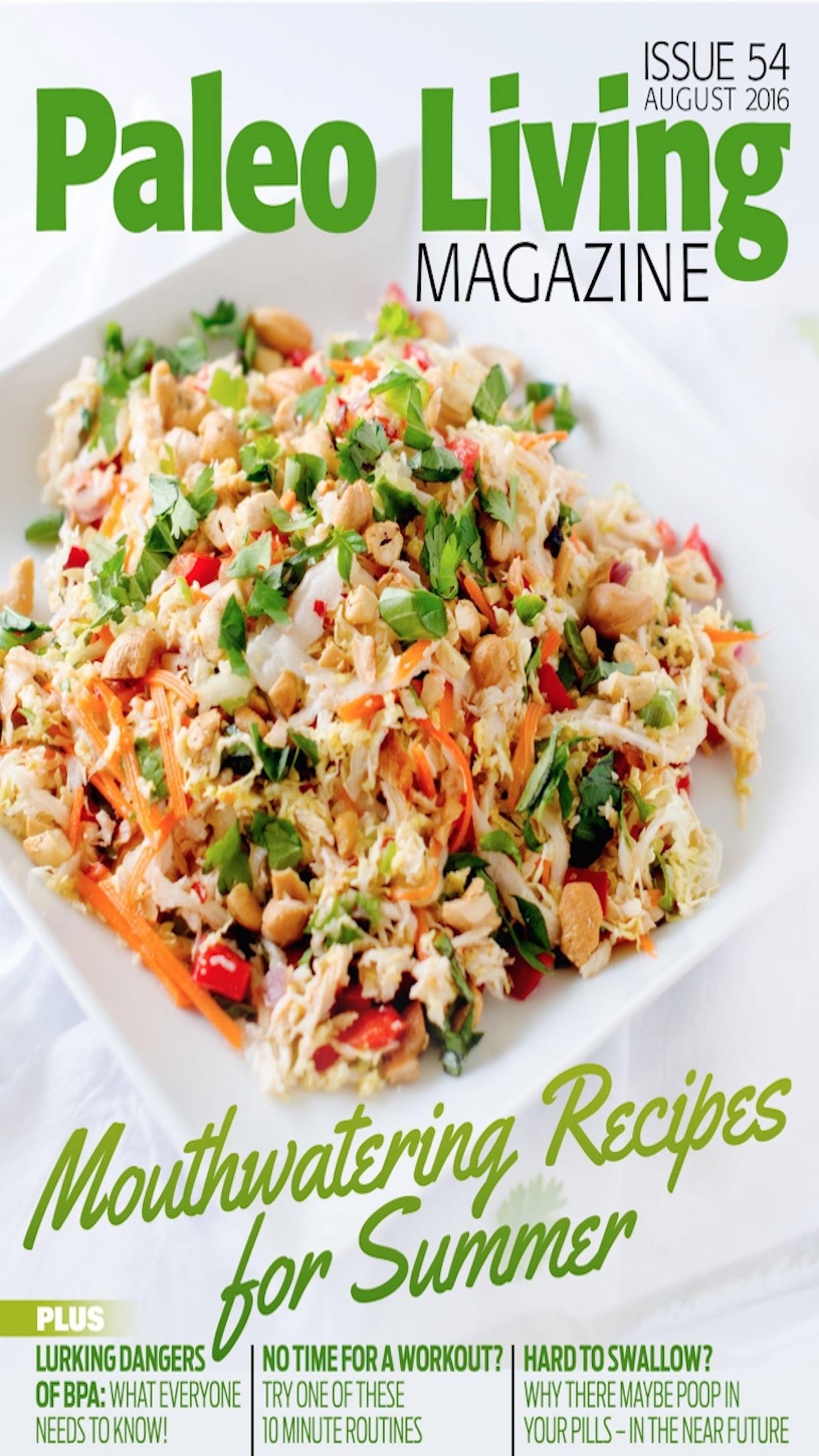 Paleo Living Magazine - Recipes & Meal Plans Screenshot