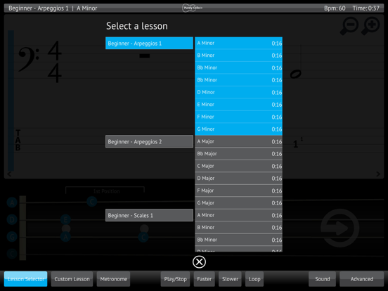 Learn & Practice Cello Music Lessons Exercises screenshot three
