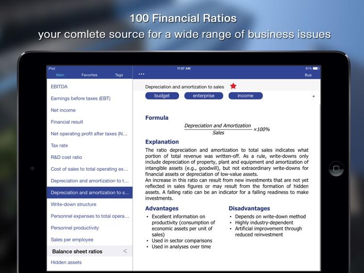 100 Financial Ratios – Business Indicator for iPad screenshot-4