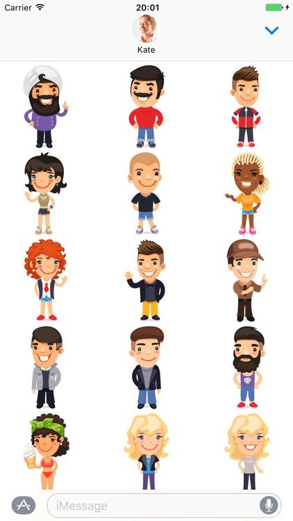 Cartoon people - Stickers for iMessage screenshot-4