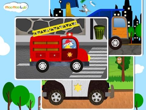 くるま, トラック, しょうぼうしゃ -子供のためのゲームのおすすめ画像5