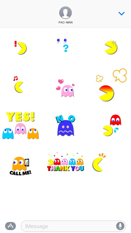 PAC-MAN Moving Stickers