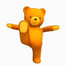 Dancing Teddy Bear 3D! growing pet idle game