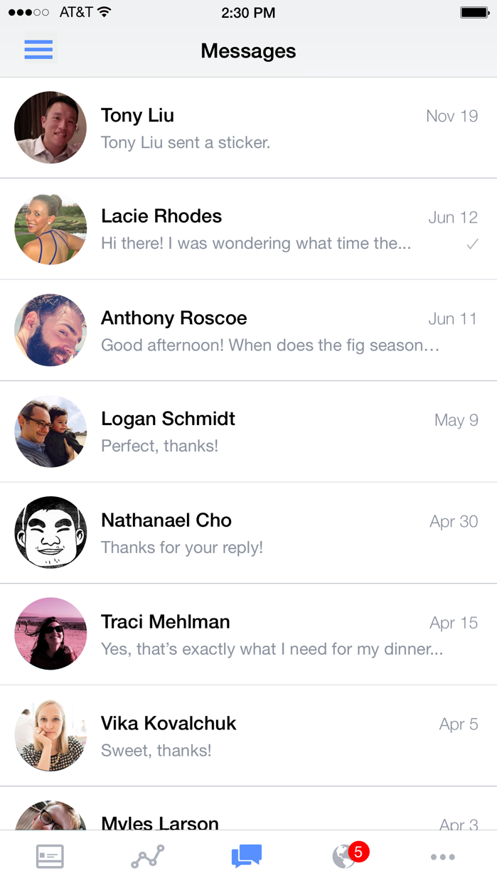 Facebook Pages Manager Screenshot