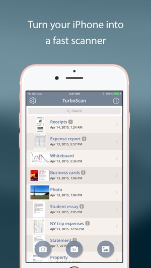 Turboscan pro pdf scanner on the app store screenshots reheart Images