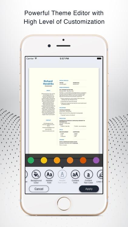 Instant Resume: CV & Resume Builder Free screenshot-0
