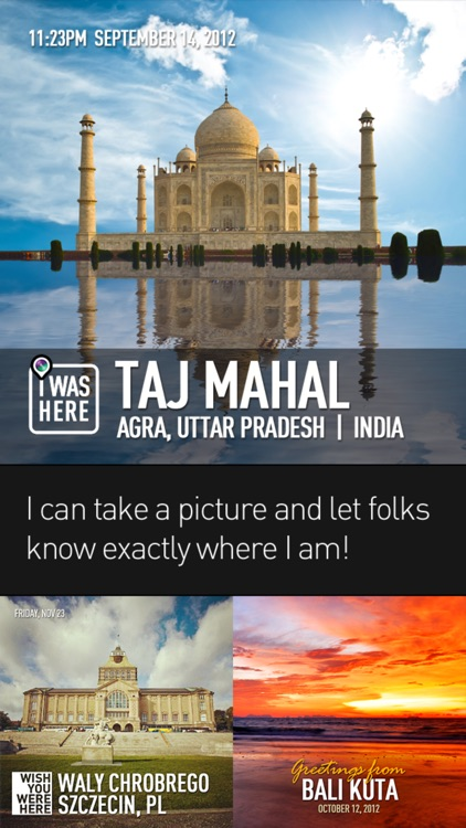 InstaPlace : beautiful photo checkins & postcards