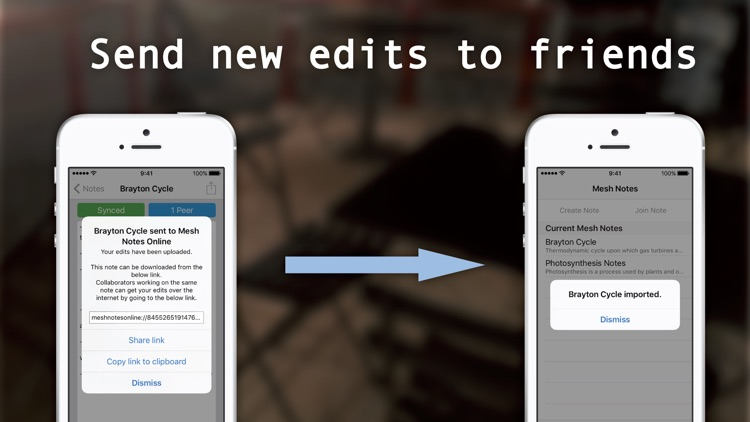 Mesh Notes – Nearby Collaborative Editing