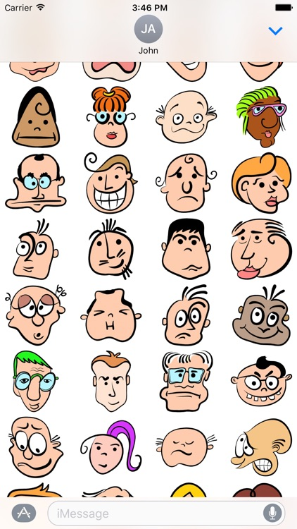 Head and Face Emoji Stickers