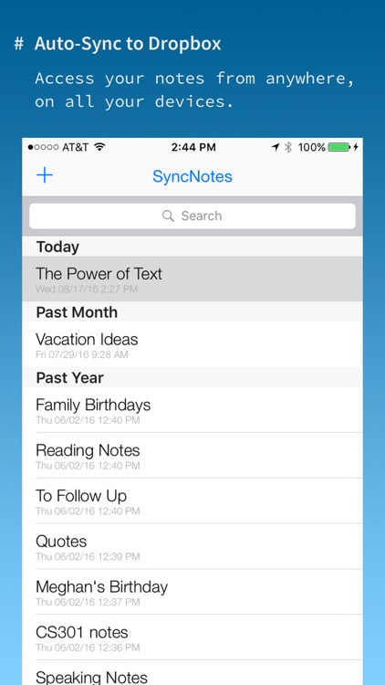 SyncNotes+ Modern Text Editor