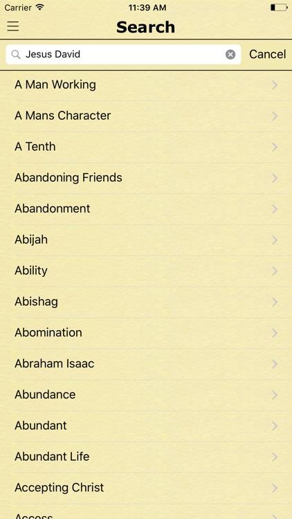 Bible Verses by Topics of the King James Version screenshot-3