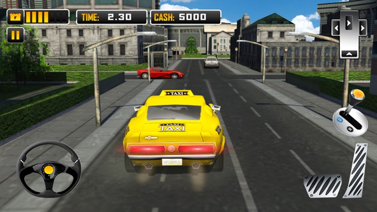 Electric Car Taxi Driver 3D Simulator: City Auto Drive to Pick Up Passengers