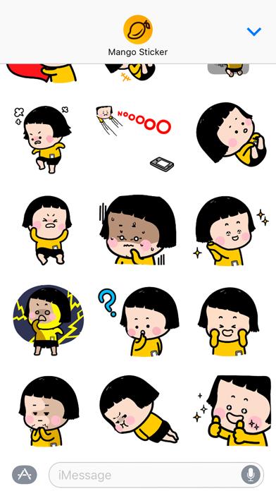 MiM animated - Mango Sticker