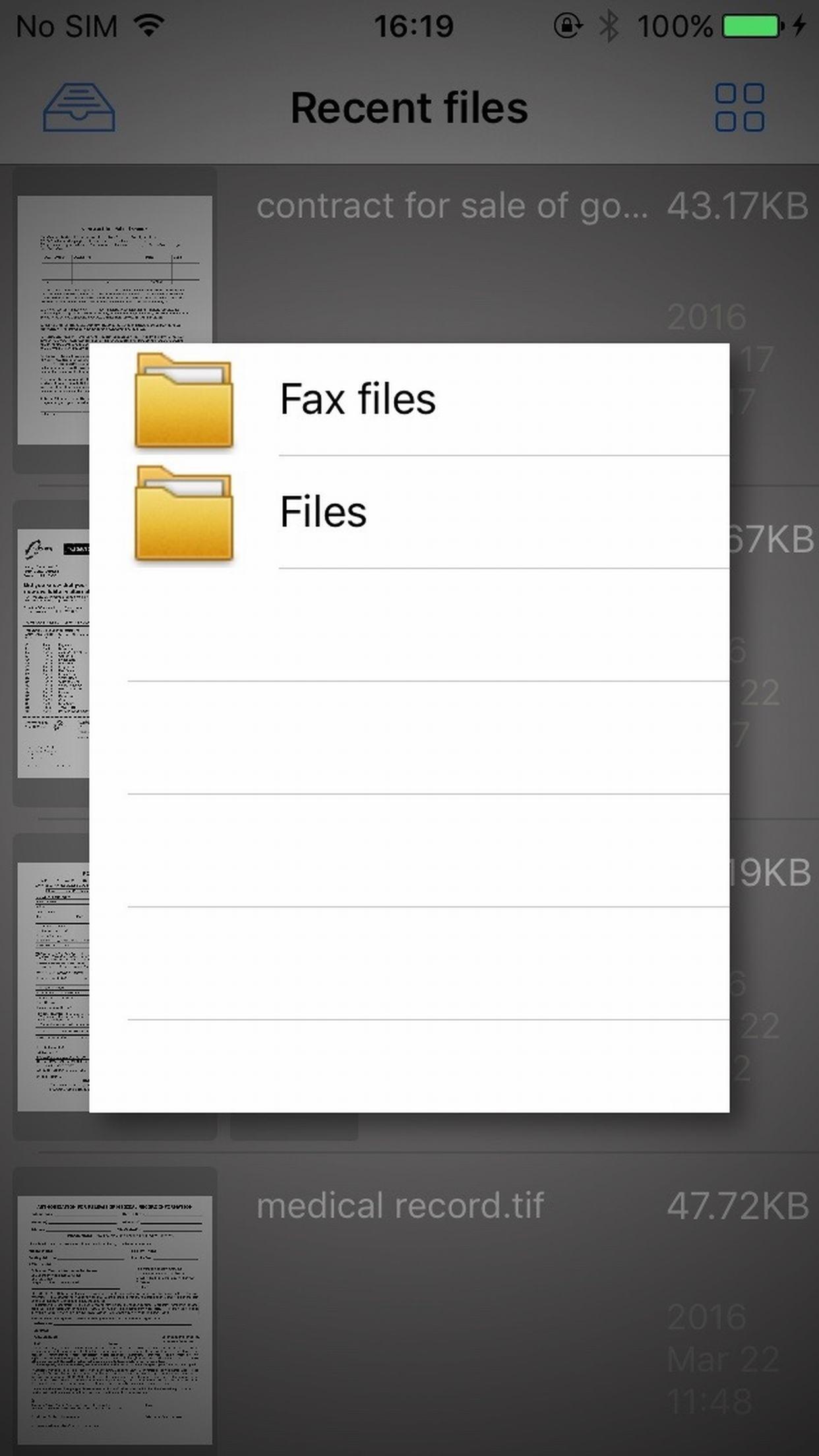 CimFAX Tiff Viewer Screenshot