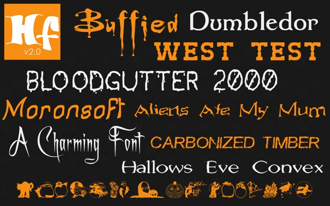 Halloween Fonts: Free Commercial Use Holiday Fonts on the Mac App ...
