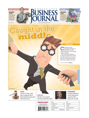Screenshot of Kansas City Business Journal