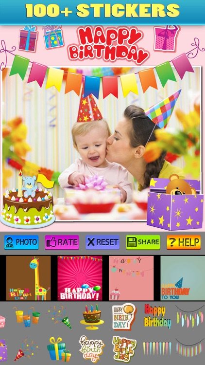 Happy Birthday Posters and Stickers Pro