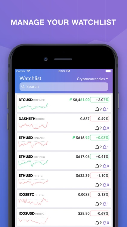crypto alerts stock tracker by mike raitsyn