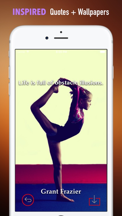 Gymnastics Wallpapers HD: Quotes with Art screenshot-4