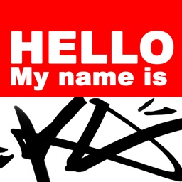 Graffiti Sticker - Hello my name is