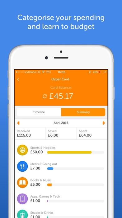Osper - Banking for 8-18s screenshot two