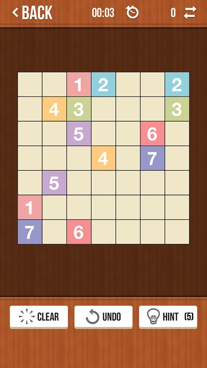Number Link Free - Logic Path and Line Drawing Board Game screenshot-2