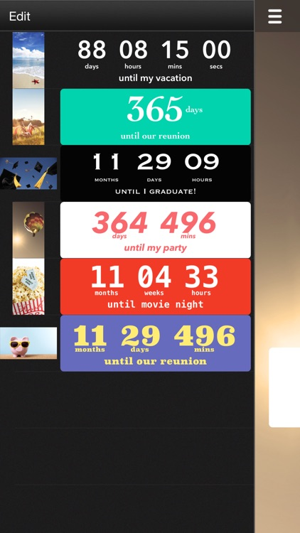 Countdown‼ (Event Reminders and Timer) app image