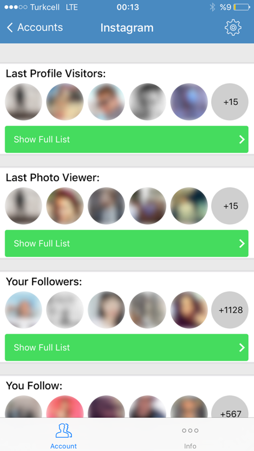 Social Track - Manage Accounts App 截图