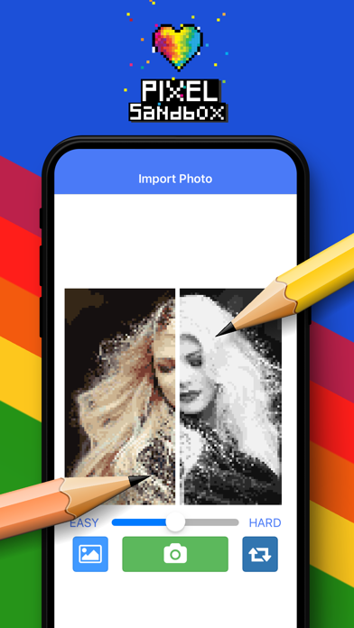 Pixel Sandbox Color by number screenshot three