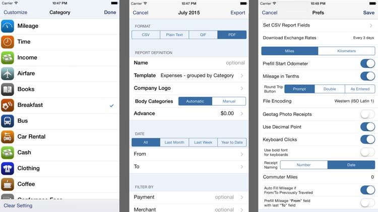 BizXpenseTracker-Expense, Mileage & Time Tracking screenshot-4