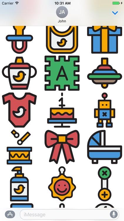 Baby Stickers - Great Emoji 's for Parents screenshot-3