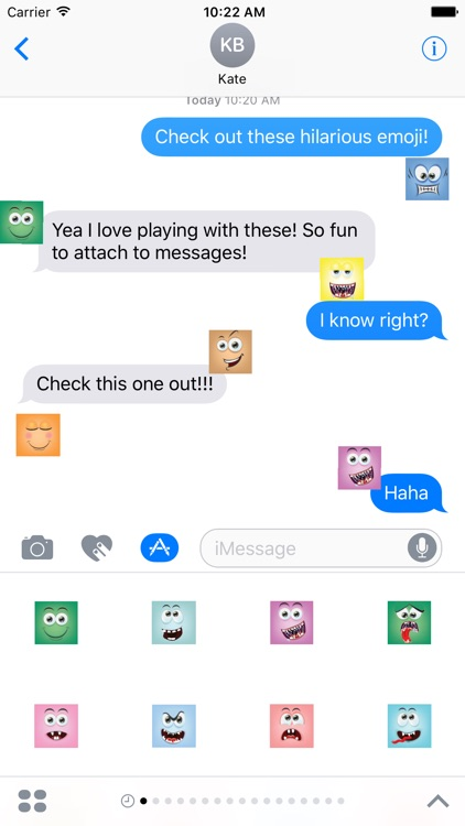Square Emoji Stickers