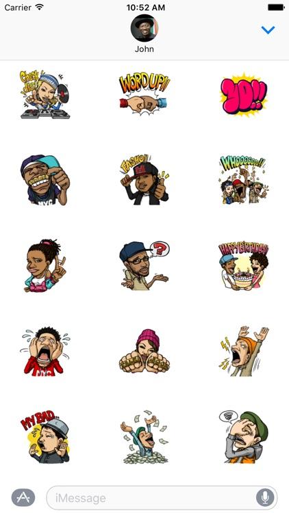 Hip Hop Friends Sticker