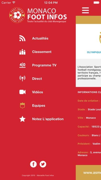 Monaco Foot Infos : toute l'actualité du club Monégasque - AS Monaco édition screenshot-4