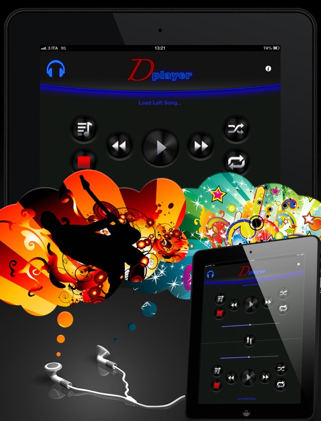 Double Player for Music with Headphones Pro Screenshot