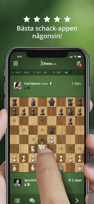 att spela schack på nätet