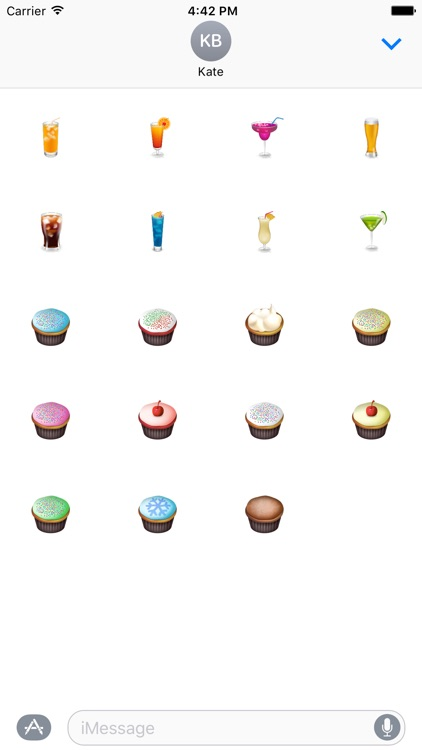 Drink Cupcake Stickers Pack For iMessage screenshot-3