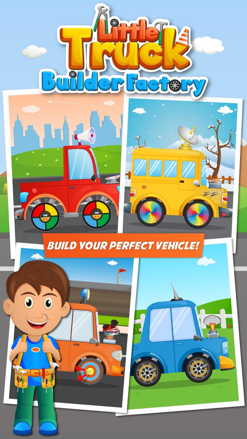 Little Truck Builder Factory- Vehicles and Trucks
