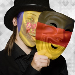 Flag On Face Photo Stickers