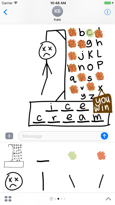 Hangman - Word Guess Puzzle Games for iMessage screenshot one