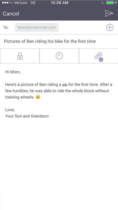 Screenshot 4 for ProtonMail's iPhone app'