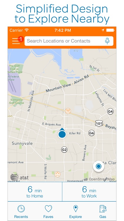 AT&T Navigator: GPS Maps, Navigation & Traffic screenshot-0