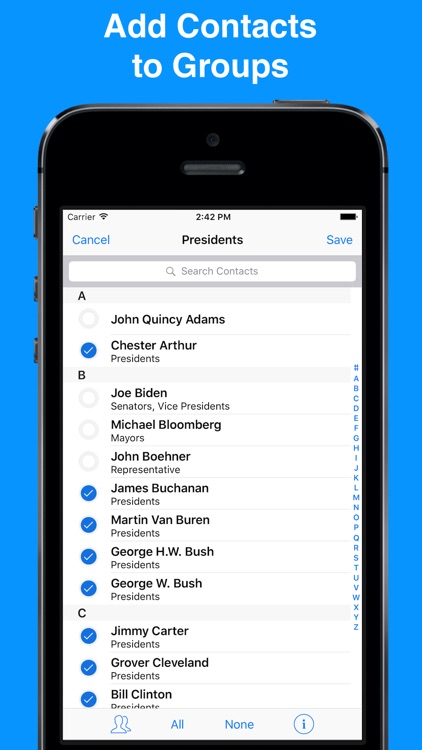 A2Z Contacts - Contact Manager & Address Book screenshot-3