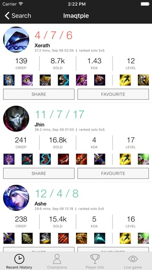 LoLHistory for League on the App Store