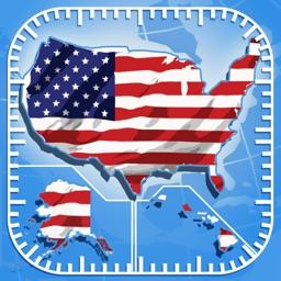 地图上的美国