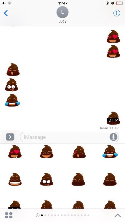 Poo Emoji Sticker for iMessage
